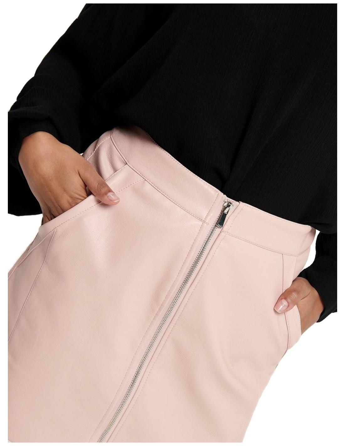 Only Onlglow Faux Leather Skirt CC Otw Falda para Mujer