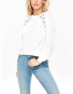onlMAGA L/S LACE PULLOVER KNT